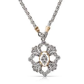 Buccellati 18K Yellow Gold Diamond Pendant