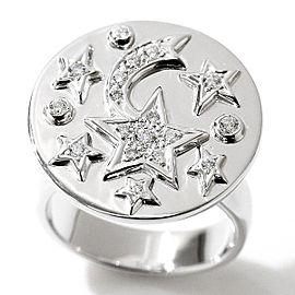 Chanel Comete 18K White Gold Diamond Ring Size 5.75