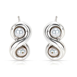 Tiffany & Co. Infinity Sterling Silver Cultured Pearl Earrings