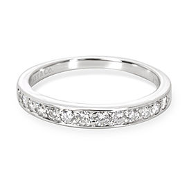 Tiffany & Co. Platinum 0.25ctw Diamond Wedding Ring Size 5.75