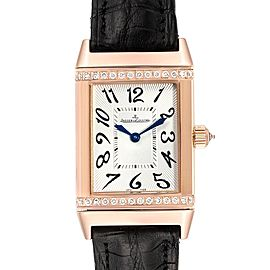 Jaeger LeCoultre Reverso Duetto Classique Rose Gold Diamond Watch 256.2.75