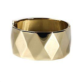 Chanel Gold Tone Cuff Bracelet