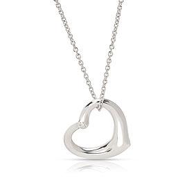 Tiffany & Co. Elsa Peretti Sterling Silver Diamond Necklace