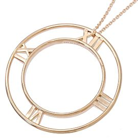 Tiffany & Co. Atlas 18K Rose Gold Pendant Necklace