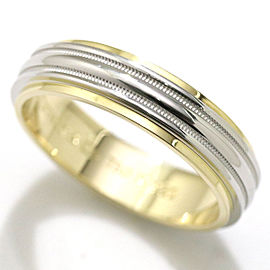 Tiffany & Co. Milgrain 950 Platinum18K Yellow Gold Ring Size 12