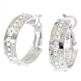 Louis Vuitton 18K WG Petit Berg Diamond Earrings