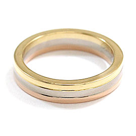 Cartier Trinity Ring 18K Yellow, White & Rose Gold Size 3.75