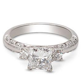 Tacori Platinum Diamond Engagement Ring Size 5.25