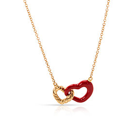 David Yurman Double 18K Yellow Gold Enamel Necklace