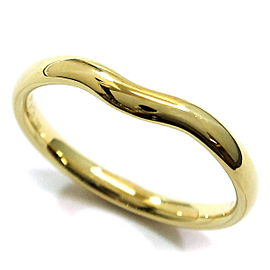 Tiffany & Co. Wide Curved 18K Yellow Gold Band Ring Size 12.5