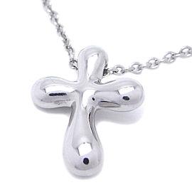 Tiffany & Co. Elsa Peretti Platinum Cross Pendant Necklace