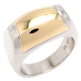 Bulgari Tronchetto 18K White and Yellow Gold Ring Size 4.75