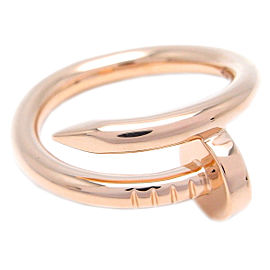 Cartier Juste Un Clou Ring 18K Rose Gold Size 5.25