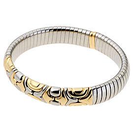 Bulgari Alveare 18K Yellow Gold Stainless Steel Bracelet
