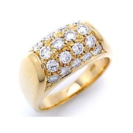 Bulgari 18K Yellow Gold Diamond Troncet Ring Size 5.5