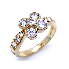 Van Cleef & Arpels 18K Yellow Gold with Diamond Ombelle Ring