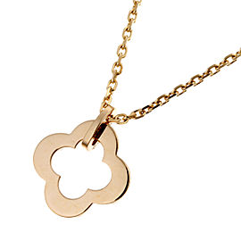 Van Cleef & Arpels Alhambra 18K Rose Gold Pendant Necklace