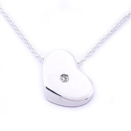 Tiffany & Co. Paloma Picasso Heart Pendant Necklace Sterling Silver