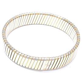 Bulgari Tubogas 18K Yellow White and Rose Gold Bracelet