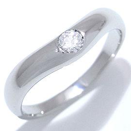 Bulgari PT950 Platinum Diamond Ring Size 5.75