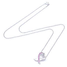 Tiffany & Co. WG Paloma Picasso Loving Heart Sapphire Pendant Necklace