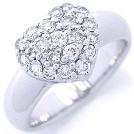 Ponte Vecchio WG Heart Motif Paved Diamond Ring