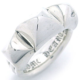 Chrome Hearts Sterling Silver Waxed Punk Ring