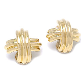 Tiffany & Co. 18k Yellow Gold Signature Earrings