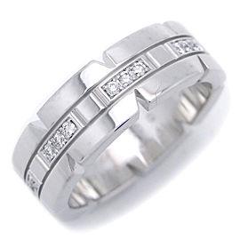 Cartier Tank Francaise Ring 18k White Gold Diamond Size 5.75