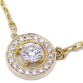Boucheron YG Diamond Ava Diamond Pendant Necklace