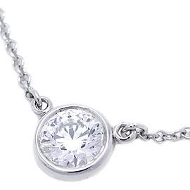Tiffany & Co. Platinum 950 By The Yard 1P Diamond Pendant Necklace
