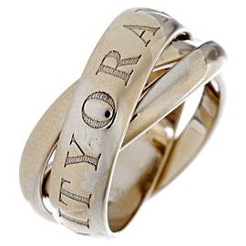 Cartier Christmas 1998 Limited Edition Ring 18k White Gold Size 4.5