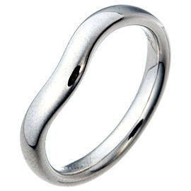Tiffany & Co. Elsa Peretti 950 Platinum Curved Band Ring