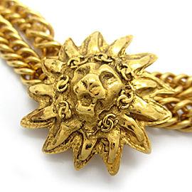 Chanel Gold Tone Lion Necklace