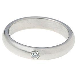 Cartier Wedding Ring Platinum Diamond Size 4.75