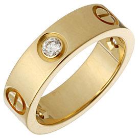 Cartier Love Ring 18k Yellow Gold 3 Diamonds Size 5.75