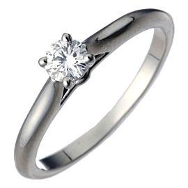 Cartier 1895 Solitaire Ring Platinum Diamond Size 4.75