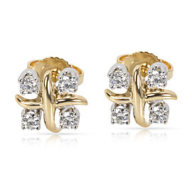 Tiffany & Co. Schlumberger Lynn 18K Gold and Diamond Earrings