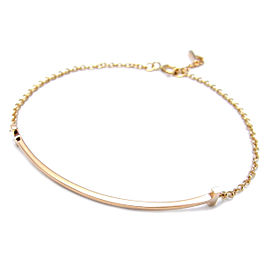 Tiffany & Co. 18k Rose Gold T Smile Bracelet
