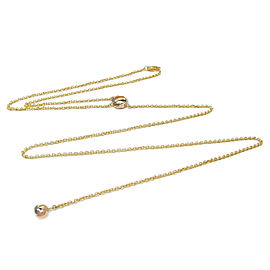 Cartier Baby Trinity Pendant Necklace 18k Tri-Color Gold