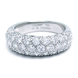 Cartier Diamants Ring 18k White Gold Diamonds Size 4.75