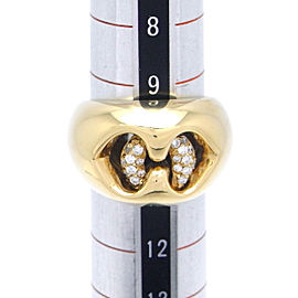 Bulgari 18K Yellow Gold Diamond Ring Size 5.25