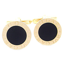 Bulgari Bulgari 18k Yellow Gold Onyx Cufflinks