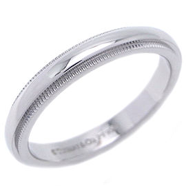 Tiffany & Co. Classic Milgrain Platinum Ring Size 7.25