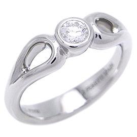 Tiffany & Co. Platinum Diamond Ring Size 4.75