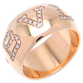 Bulgari Monologo 18k Rose Gold Diamond Ring Size 5.25