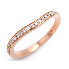 Cartier Ballerine Ring 18k Rose Gold Diamond Size 4.75