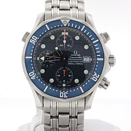 Omega Seamaster Chronograph 42MM Blue Dial Steel Automatic Watch 2599.80