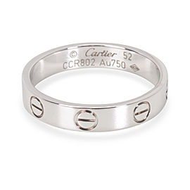 Cartier Mini Love Ring 18K White Gold Size 6