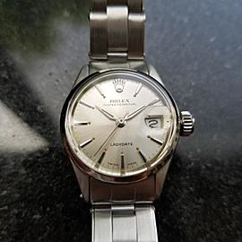 Rolex Oyster Perpetual 6516 25mm Vintage Womens Watch
